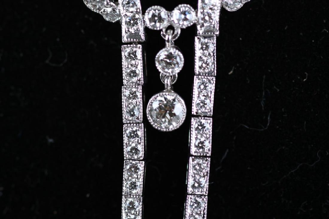 18 KARAT WHITE GOLD & DIAMOND NECKLACE - 3