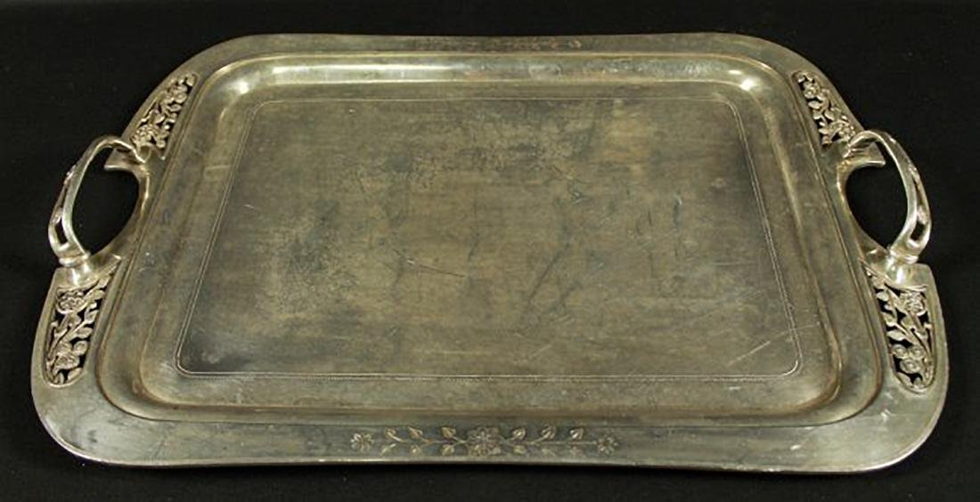 SILVER PLATTER WITH HANDLES