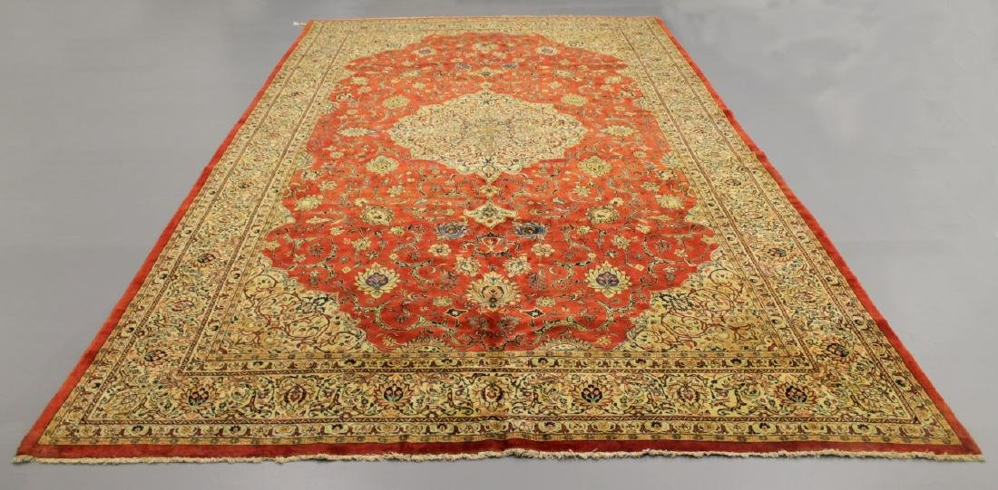 ANTIQUE SAROUK WOOL RUG