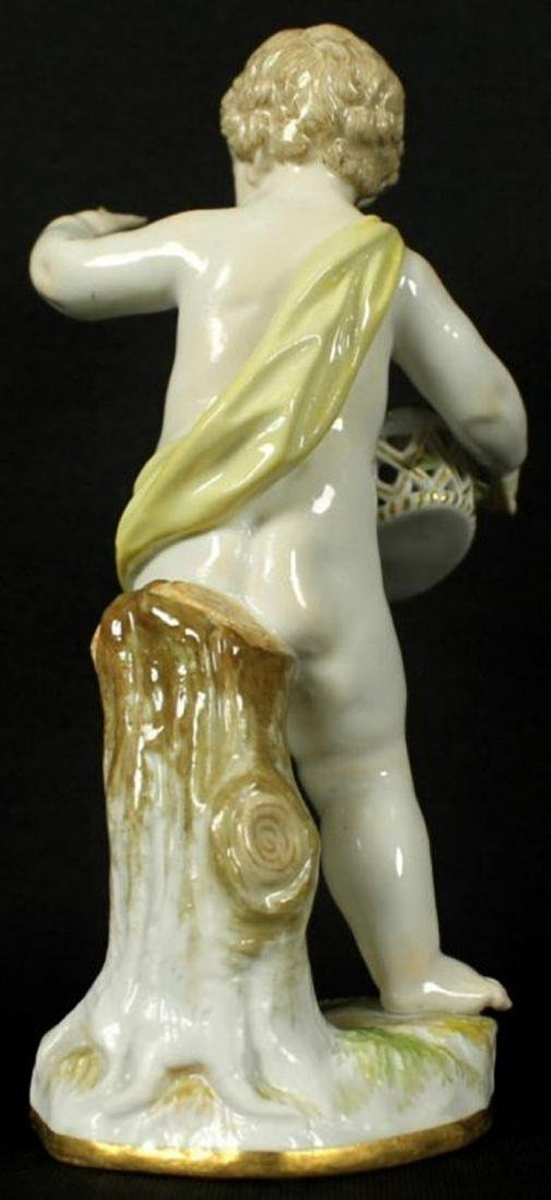 19th C. Meissen Figure of boy with Flowers - 3