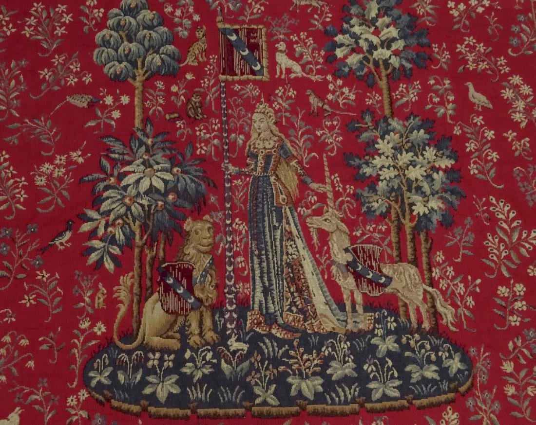 Vintage French Medieval Style Tapestry Wall Hanging - 2