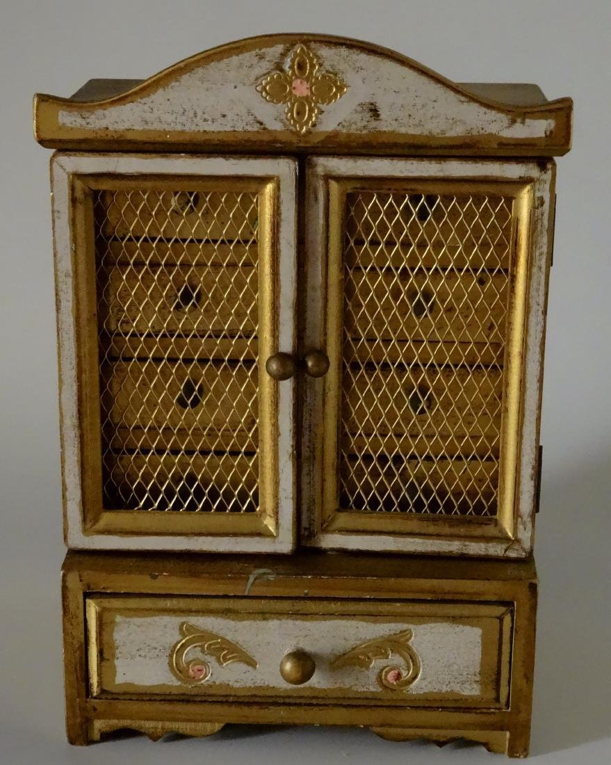 Florentine Style Jewelry Chest Music Box Sinatra Song - 2