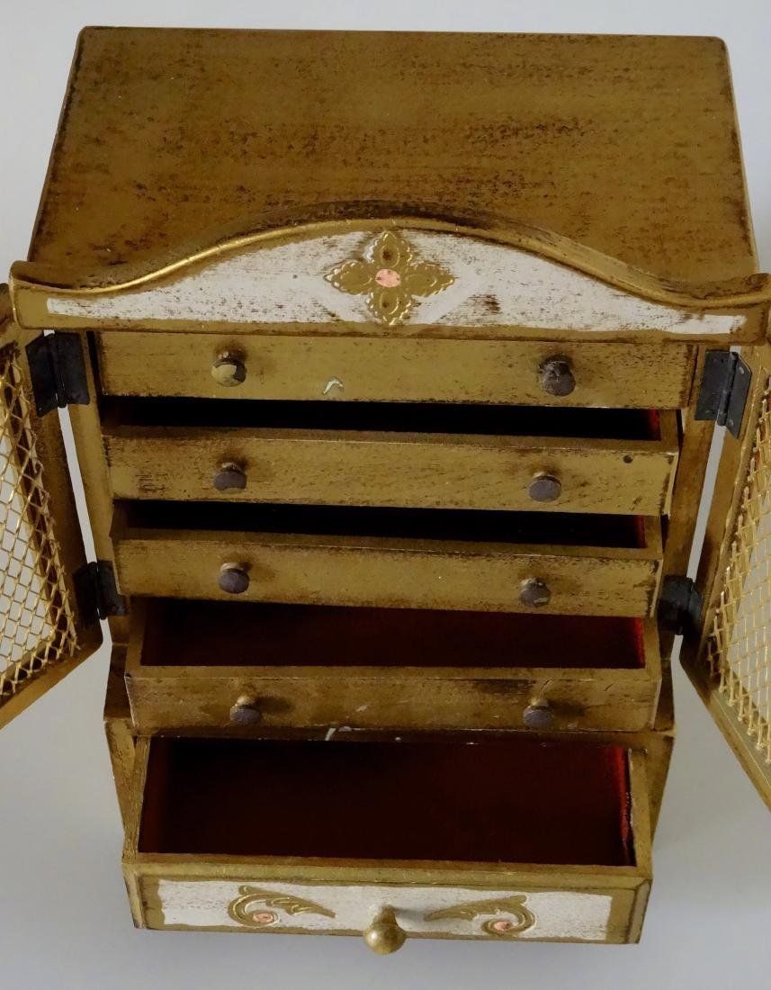 Florentine Style Jewelry Chest Music Box Sinatra Song - 3
