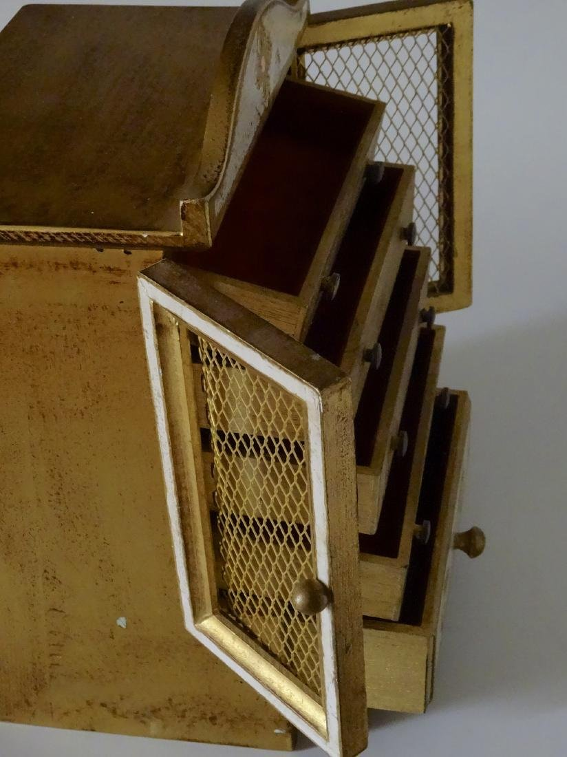 Florentine Style Jewelry Chest Music Box Sinatra Song - 5