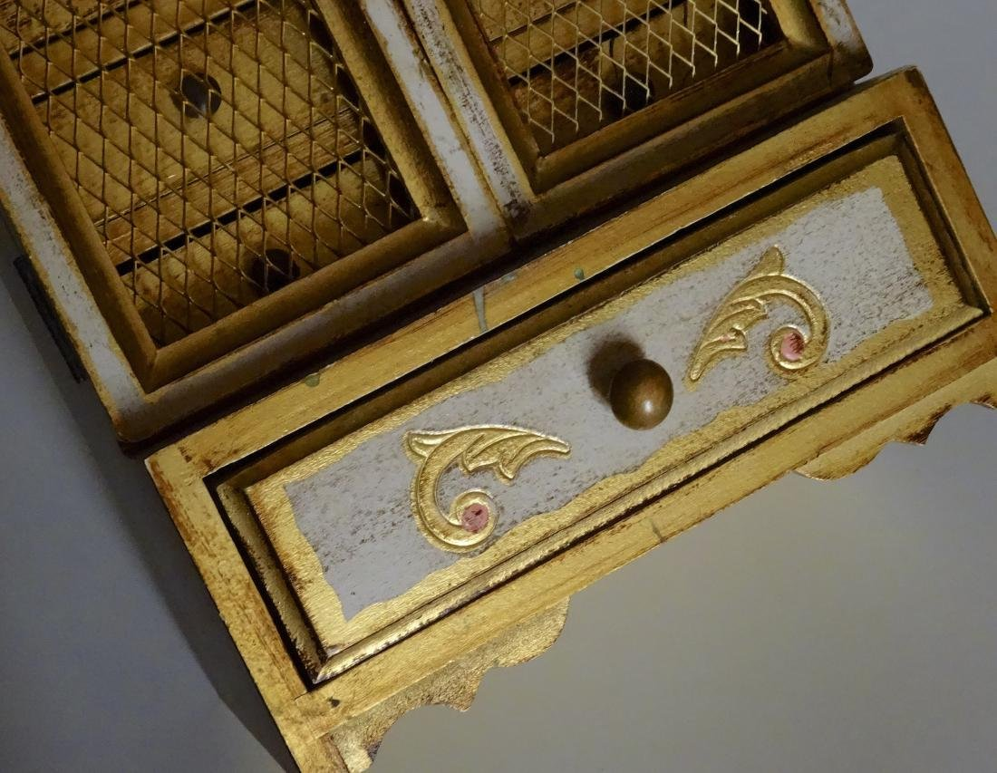 Florentine Style Jewelry Chest Music Box Sinatra Song - 6