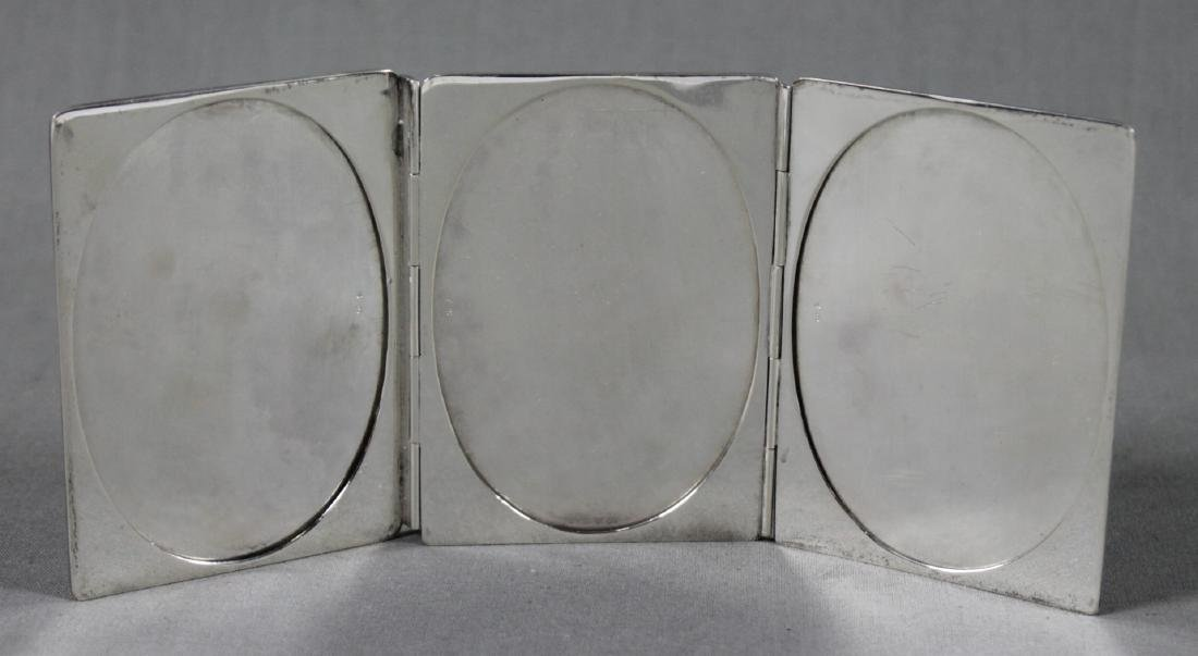 TIFFANY AND CO. STERLING SILVER TRIPTYCH POCKET PHOTO - 2