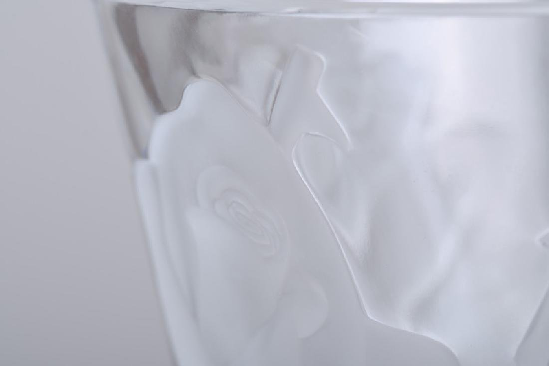 LALIQUE MOLDED GLASS VASE - 3
