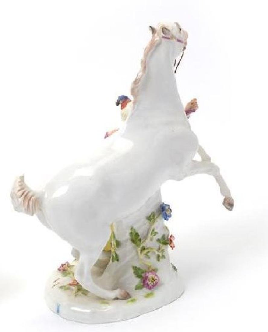 19TH C. MEISSEN FIGURE OF ATTENDANT W/ HORSE - 2