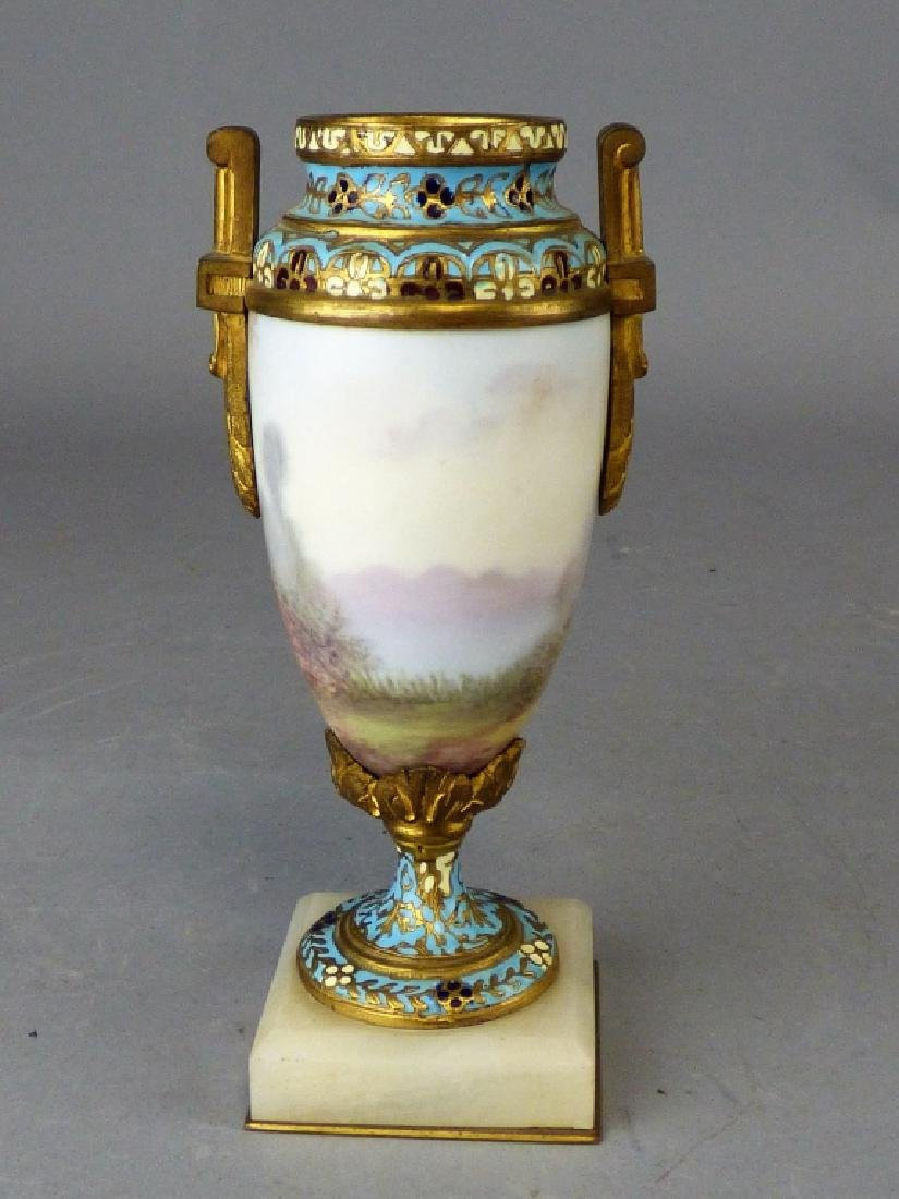 French Porcelain, Gilt-Bronze & Champleve Vase - 2