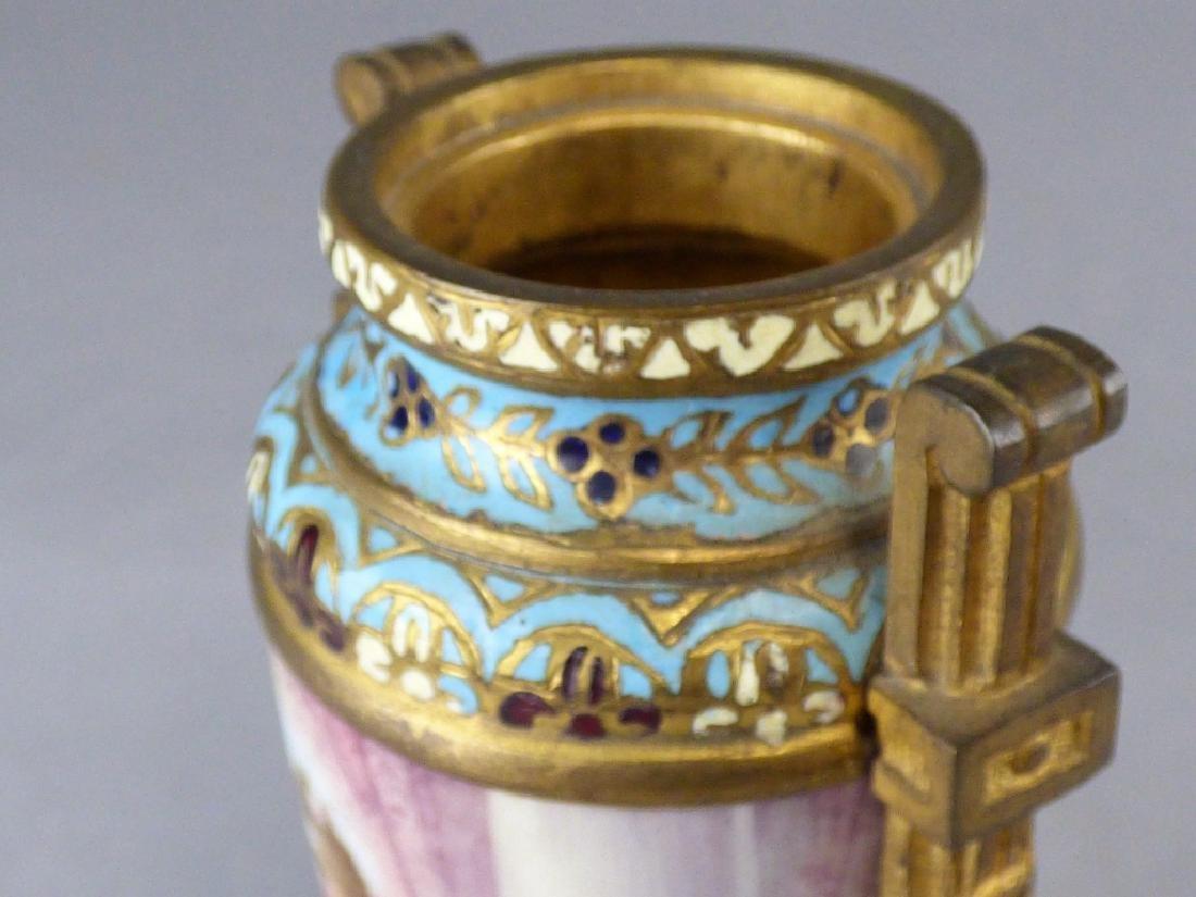French Porcelain, Gilt-Bronze & Champleve Vase - 5