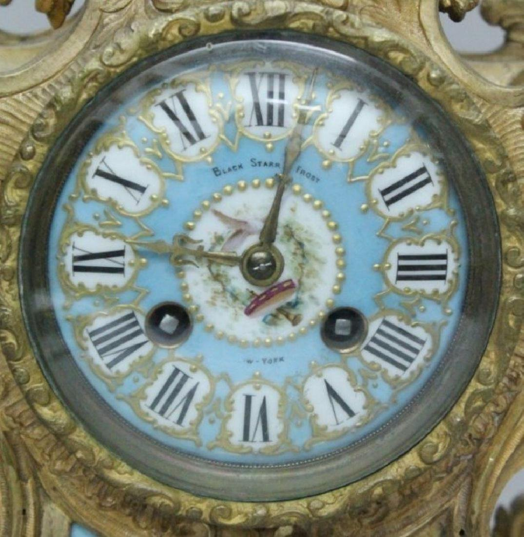 19TH C. PORCELAIN AND BRONZE AND CLOCK AND TWO HANDLED - 3
