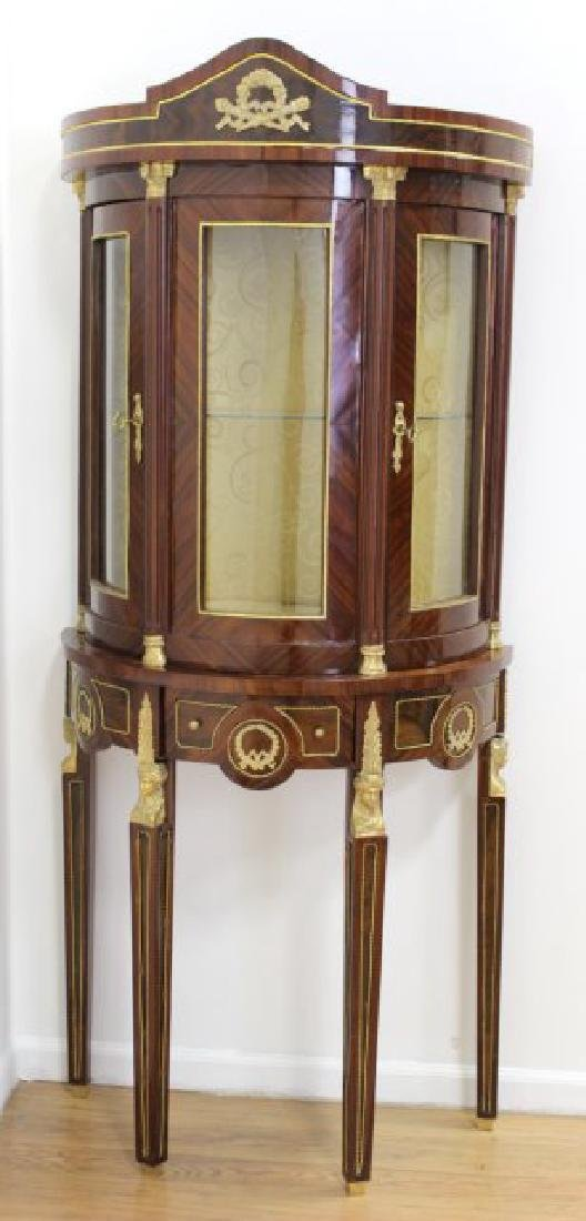 Pair of French Empire Style Inlaid Cabinets - 2