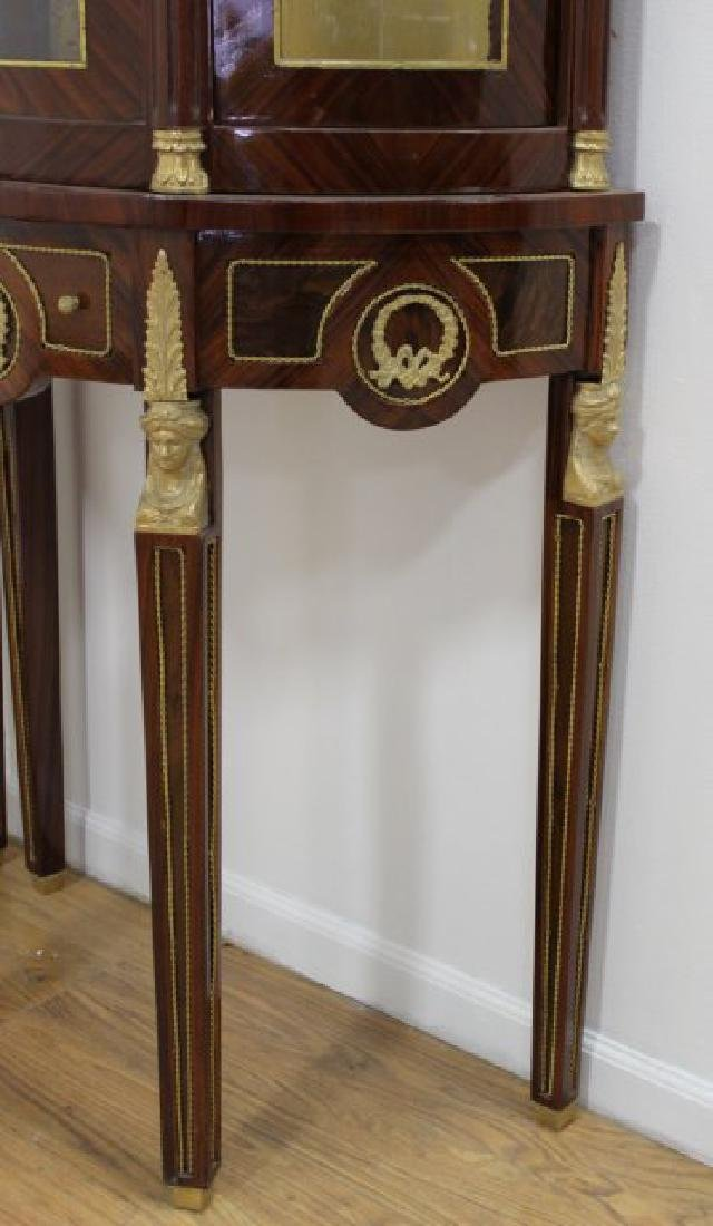 Pair of French Empire Style Inlaid Cabinets - 4