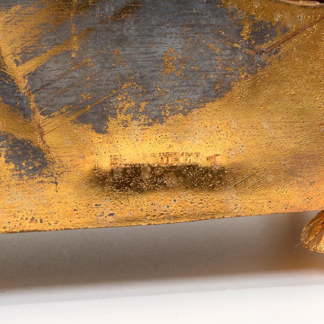 Louis XVI Style Gilt Bronze Porcelain Mantel Clock - 6