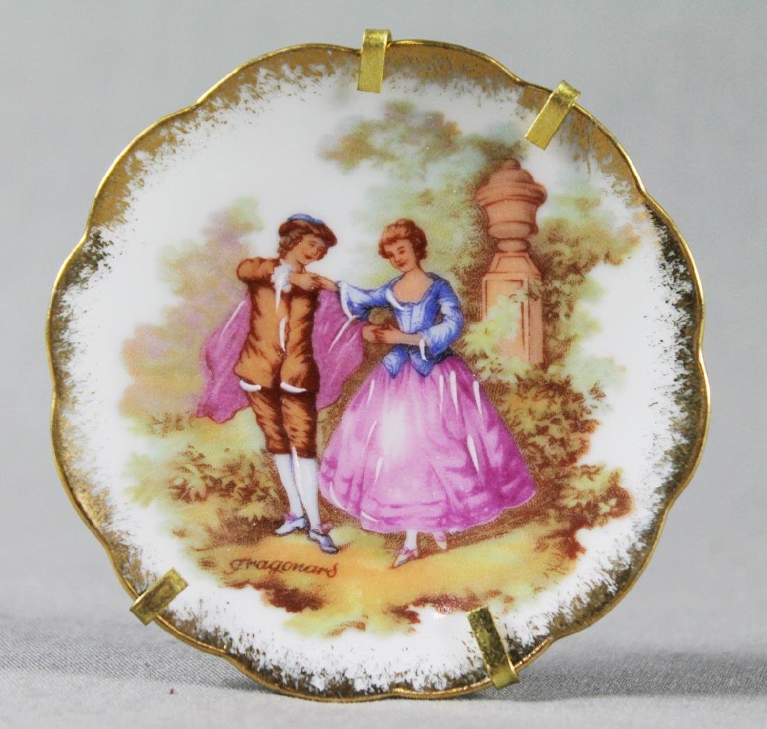 LIMOGES PORCELAIN DISH W/ STAND