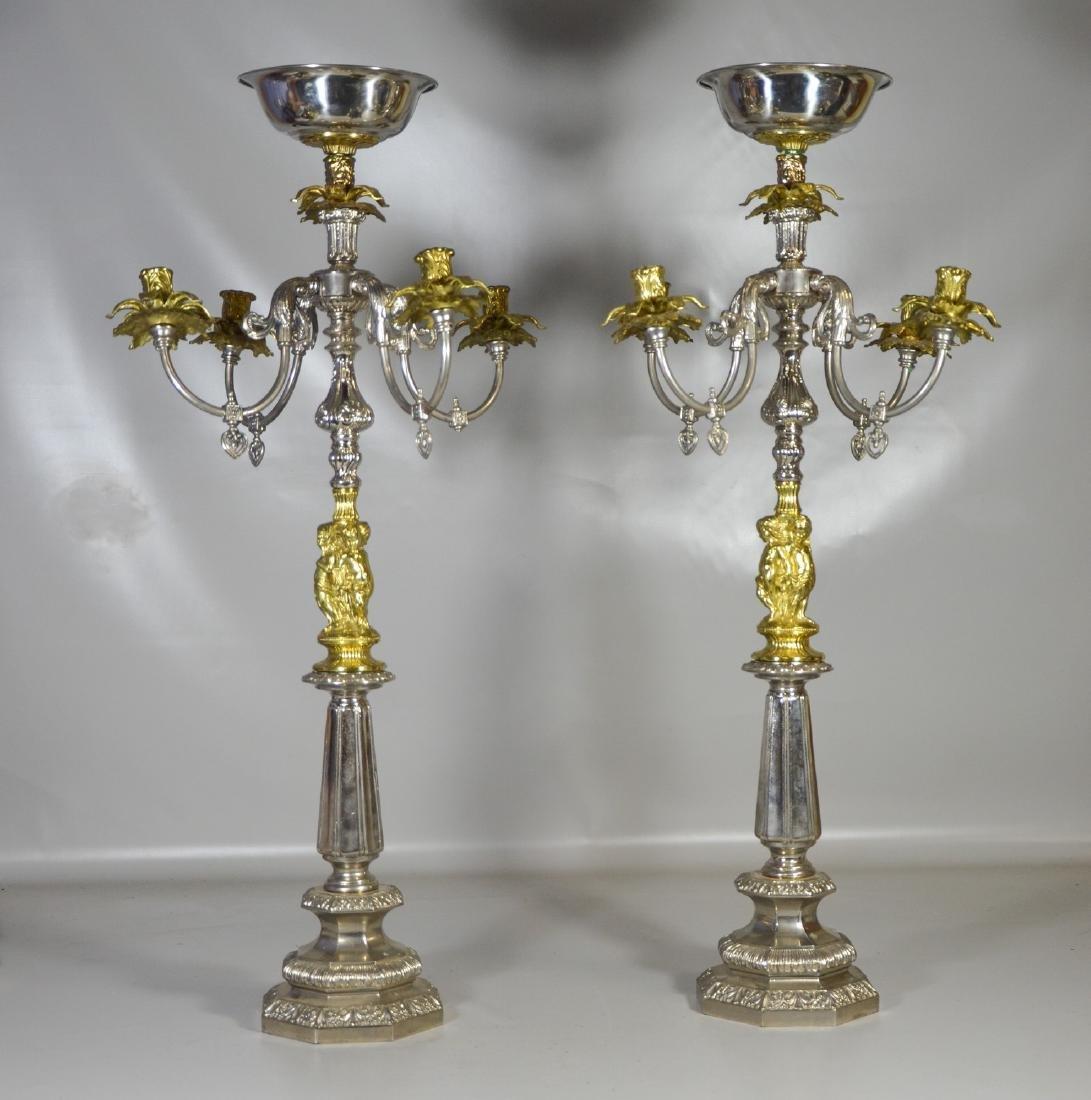 Pair of Monumental Candelabra Centerpieces