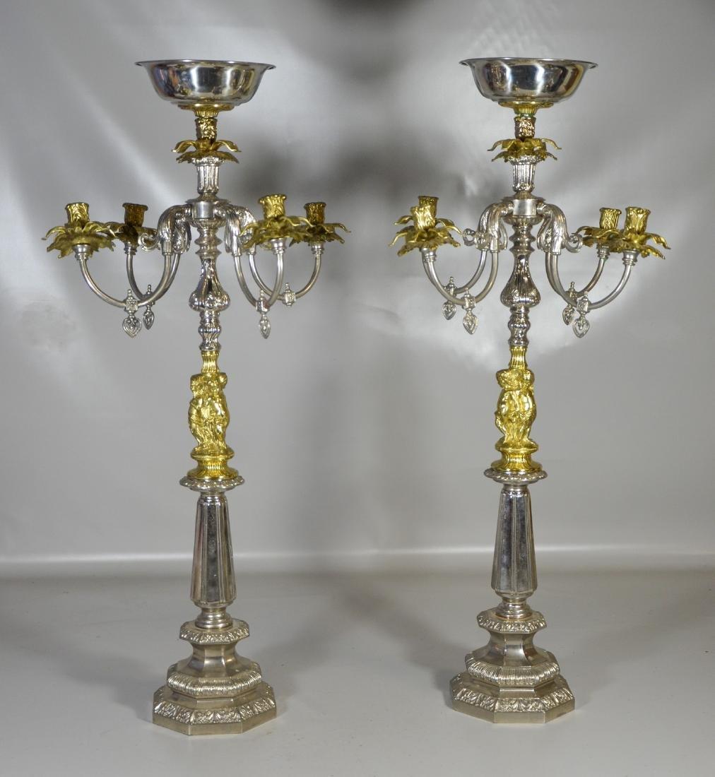 Pair of Monumental Candelabra Centerpieces - 2