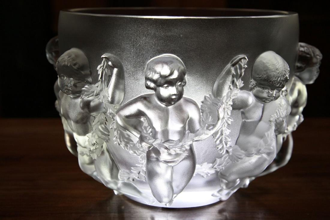 """Lalique """"Luxembourg"""" Crystal Vase - 2"""