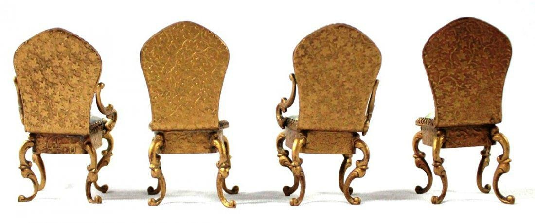 VIENNESE ENAMEL MINIATURE FURNITURE SET - 5