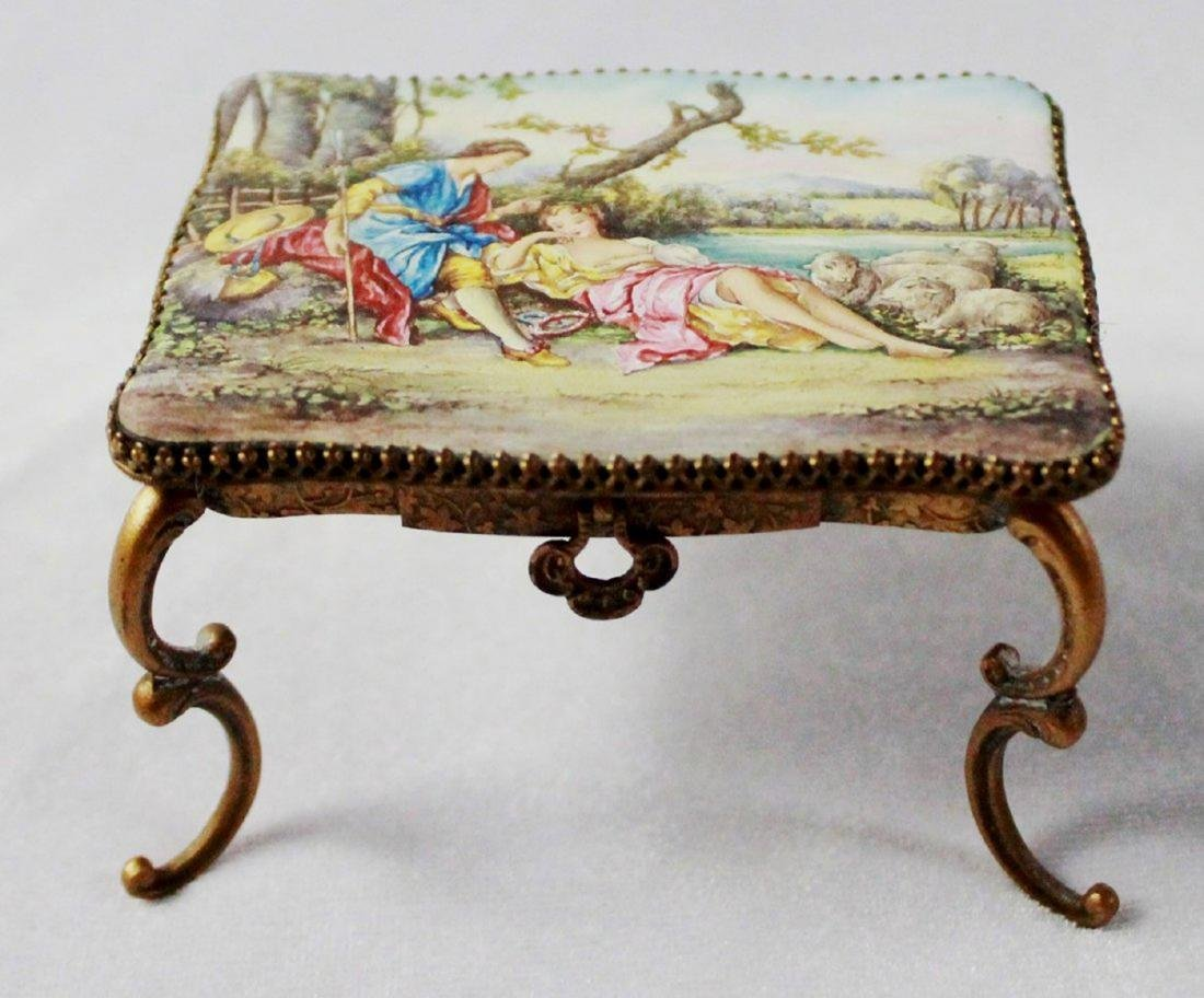 VIENNESE ENAMEL MINIATURE FURNITURE SET - 6