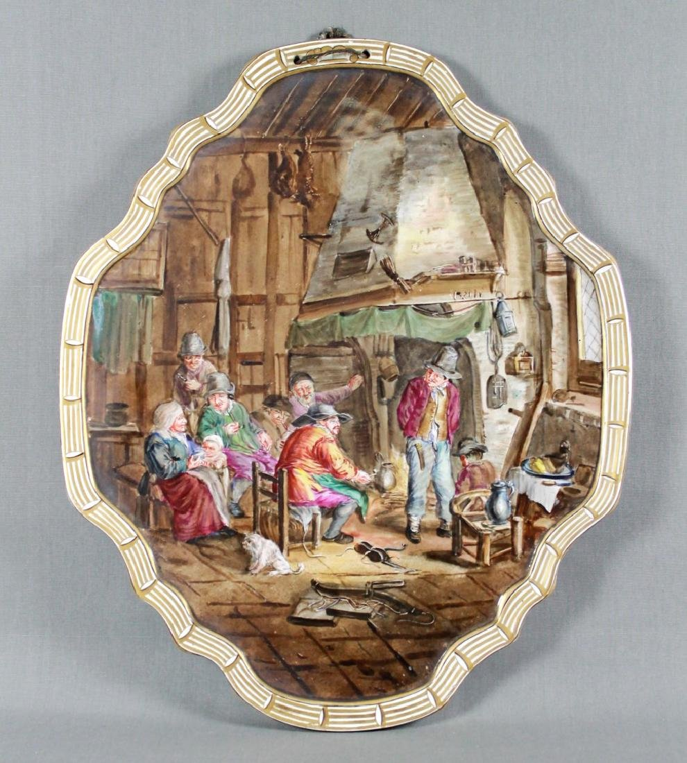 Rare lille Oval Porcelain Plaque