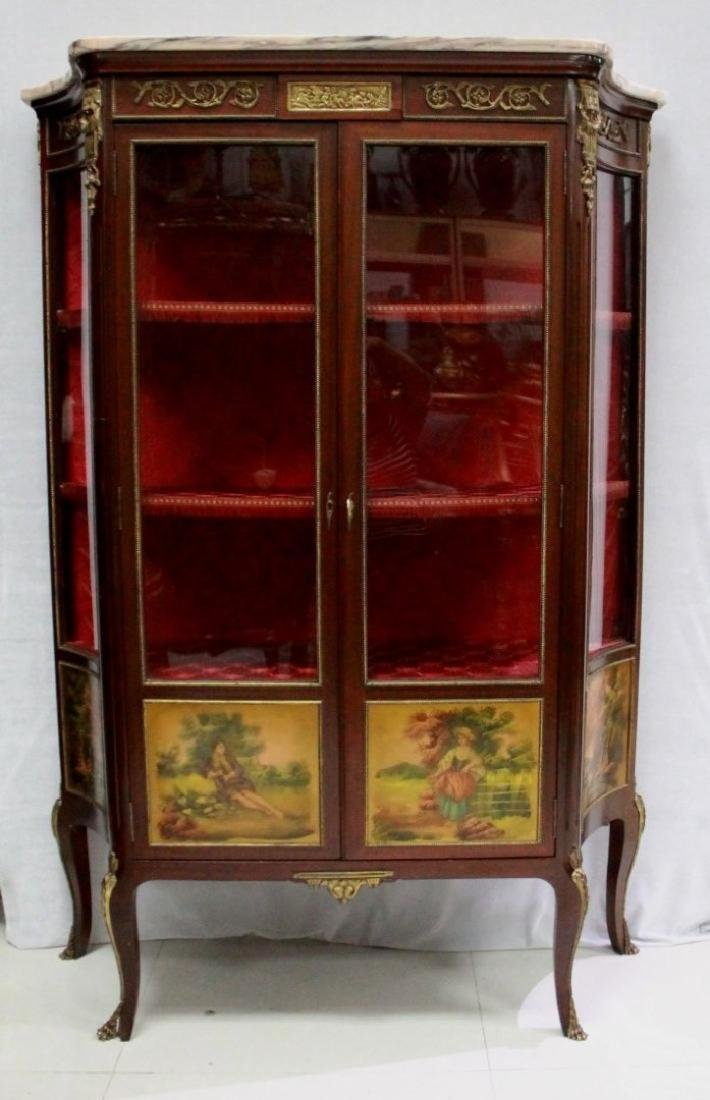FRENCH VERNE MARTIN STYLE VITRINE CABINET