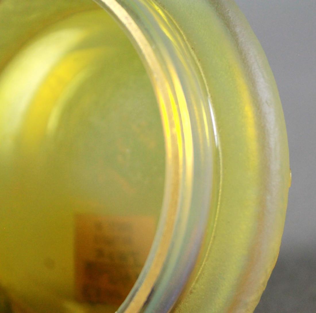A DAUM NANCY ENAMELED CAMEO GLASS DRESSER BOX - 4