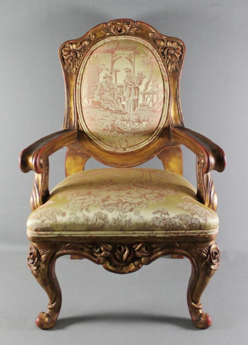 LOUIS XV STYLE DIMINUTIVE FAUTEUIL