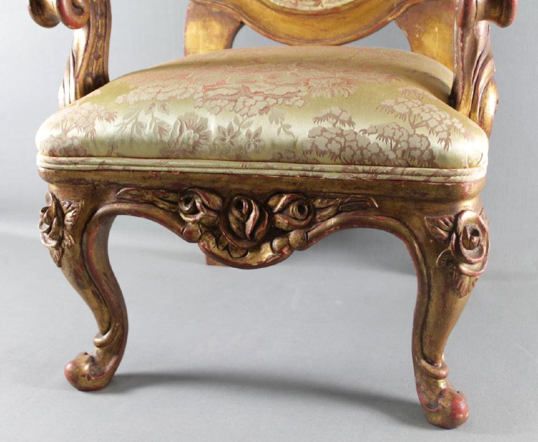LOUIS XV STYLE DIMINUTIVE FAUTEUIL - 4