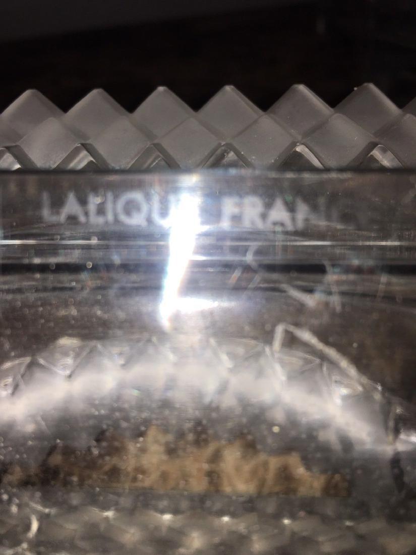 6 PC. LALIQUE MOLDED GLASS OVAL CENTERPIECE CHEMIN de - 9
