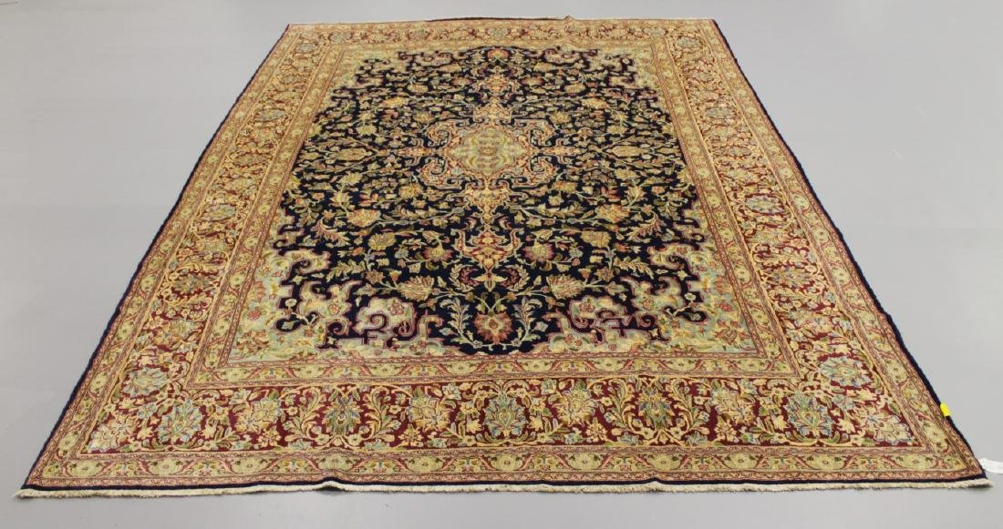 ANTIQUE KERMAN WOOL RUG IRAN
