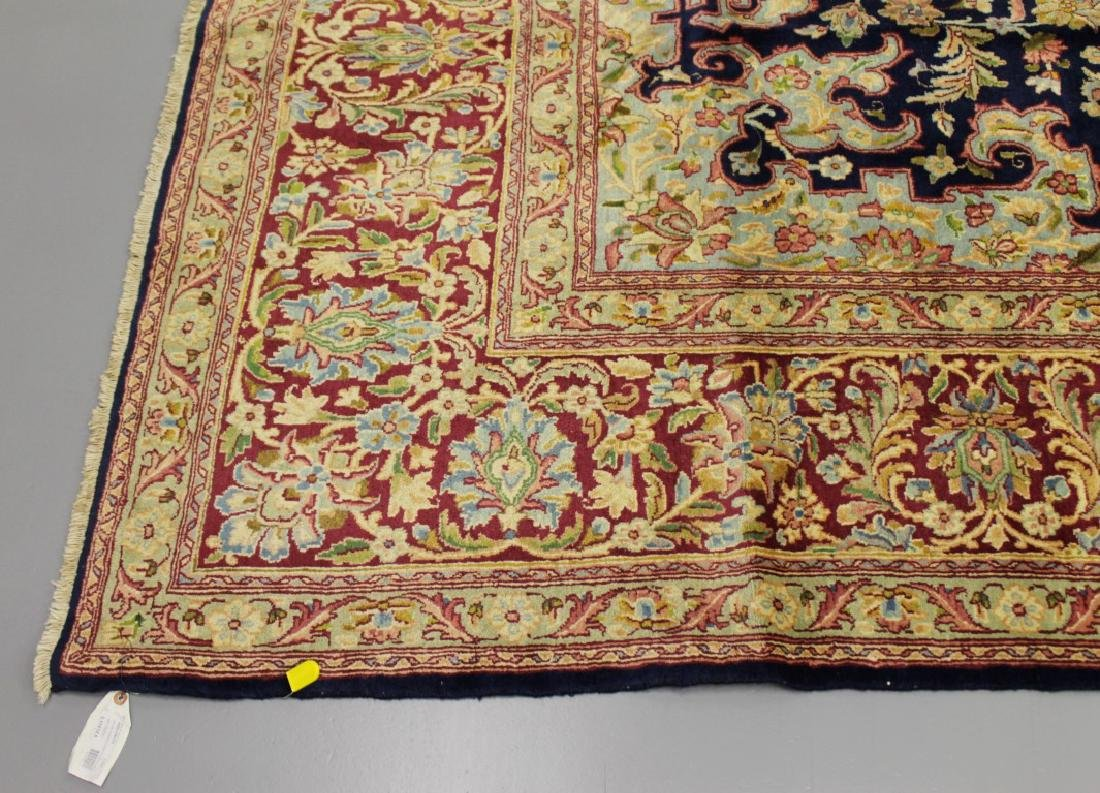 ANTIQUE KERMAN WOOL RUG IRAN - 3