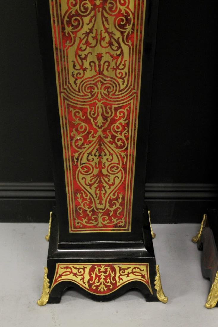 PAIR OF BOULLE STYLE PEDESTALS WITH BRONZE MOUNTS - 3