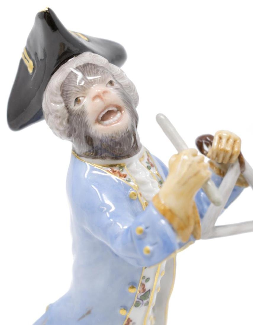 19TH C. MEISSEN MONKEY BAND TRIANGLE PLAYER - 2