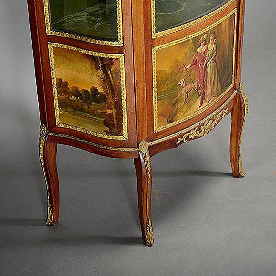 Louis XV Style Vernis Martin Style China Cabinet - 4
