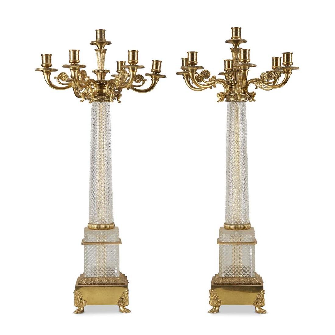 A pair of Louis-Philippe style bronze mounted cut