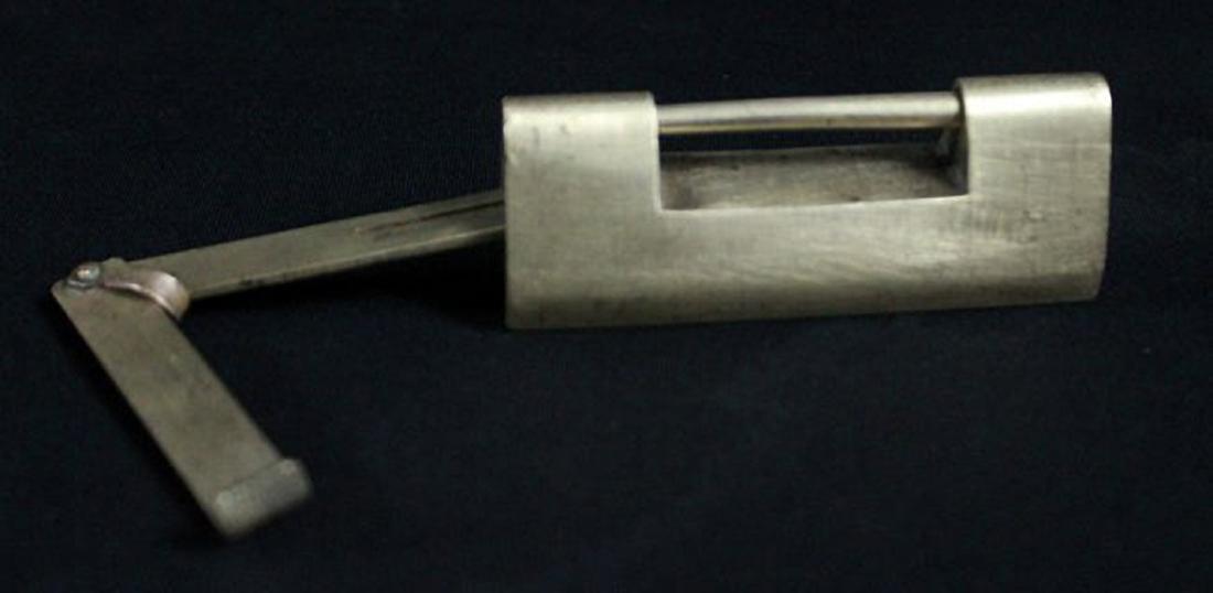 A QAJAR BRASS STEEL LOCK AND KEY 16TH-18TH C. - 2
