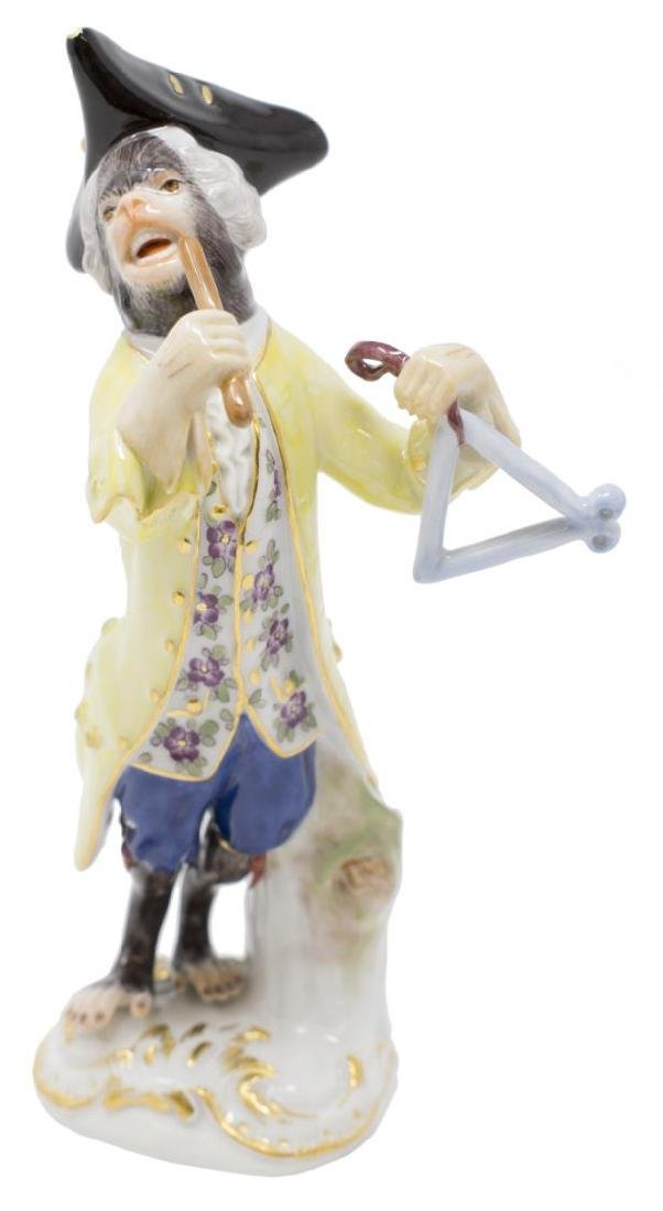 19TH C. MEISSEN MONKEY BAND TRIANGLE PLAYER