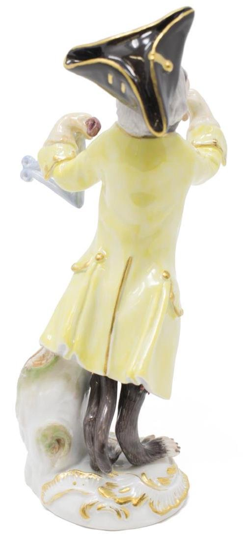 19TH C. MEISSEN MONKEY BAND TRIANGLE PLAYER - 3