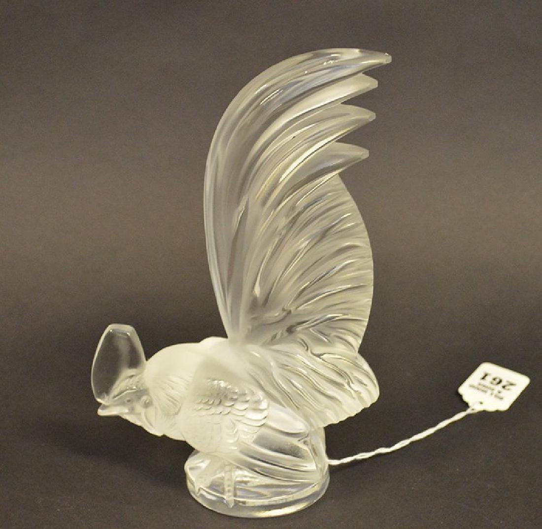 Lalique Crystal Rooster