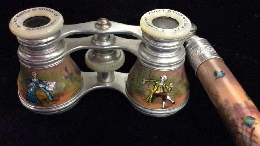 French Style Enameled Opera Binoculars