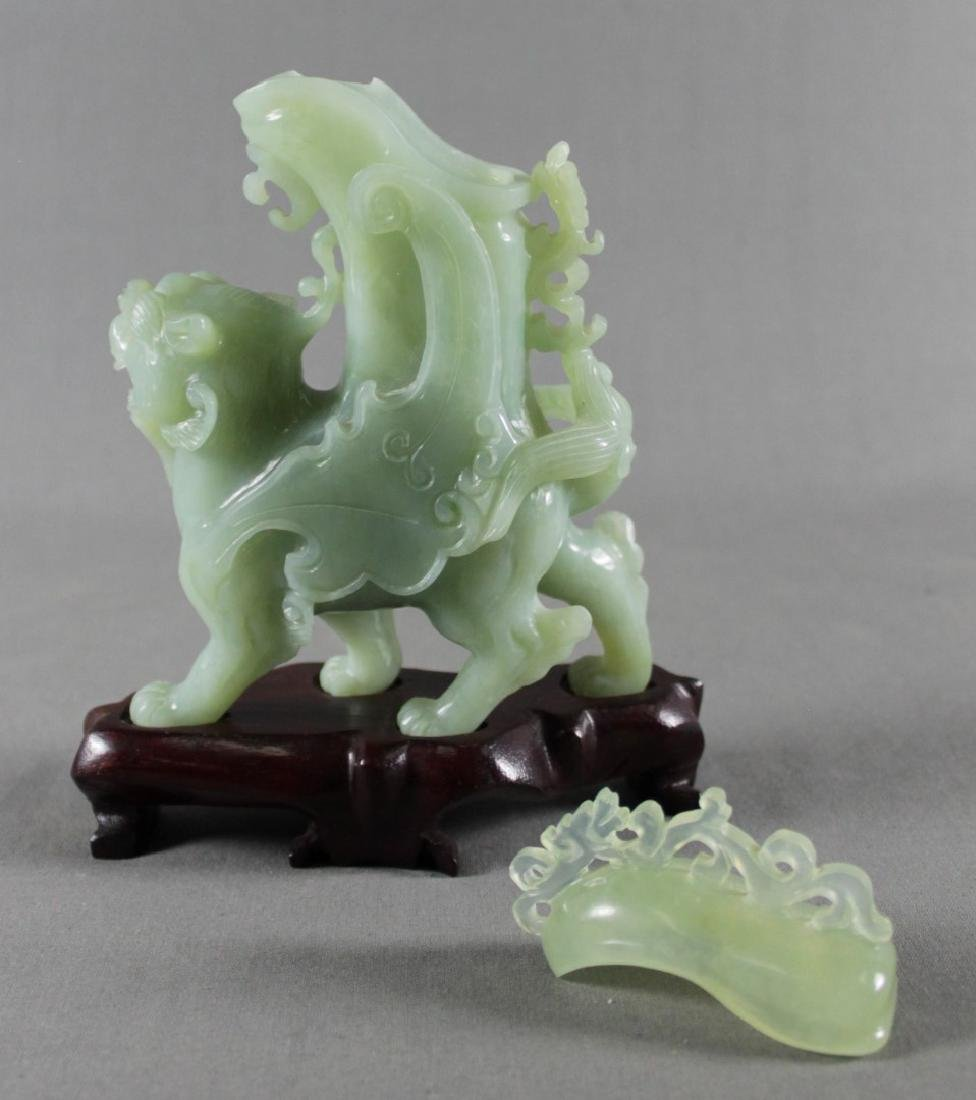 CHINESE FOO DOG ON STAND - 2