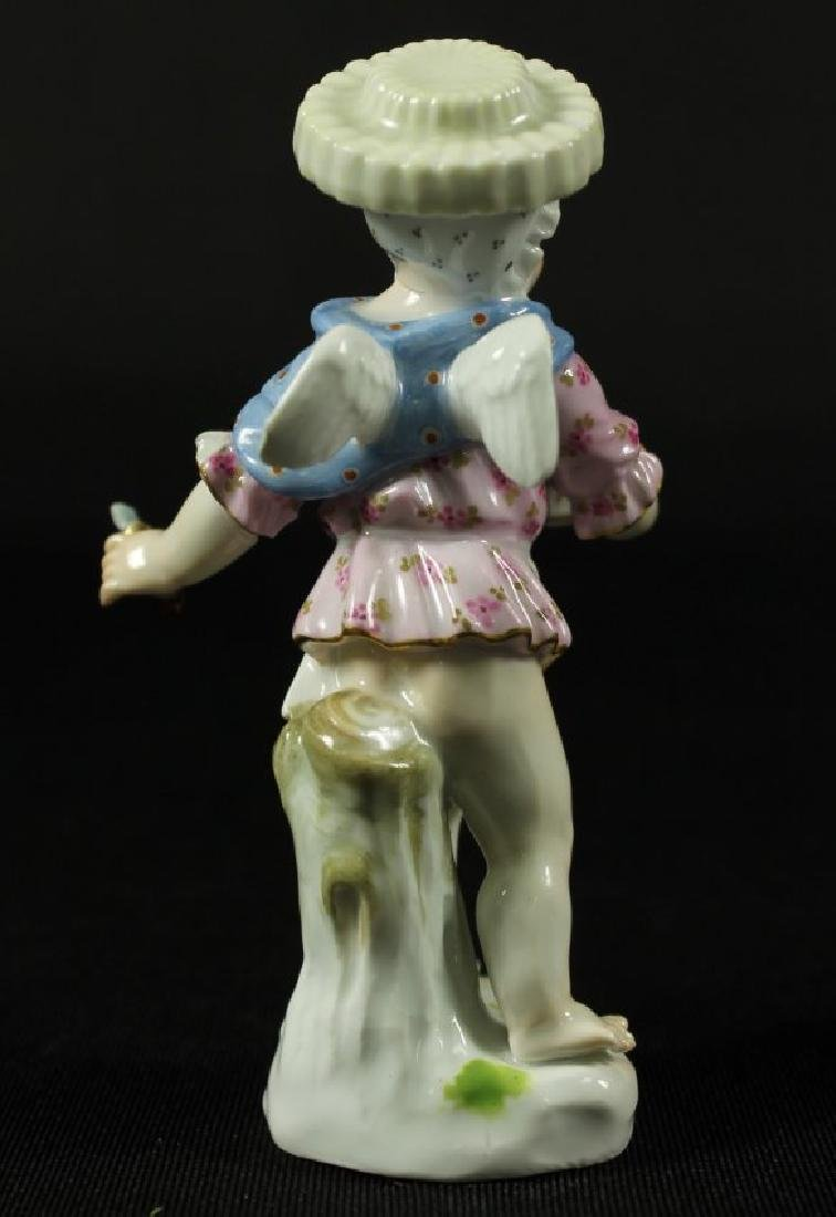 MEISSEN FIGURE WITH BASKET OF APPLES - 2