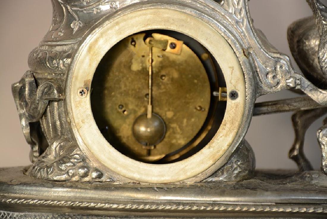 French XIV Style Figural Bronze Mantel Clock - 4