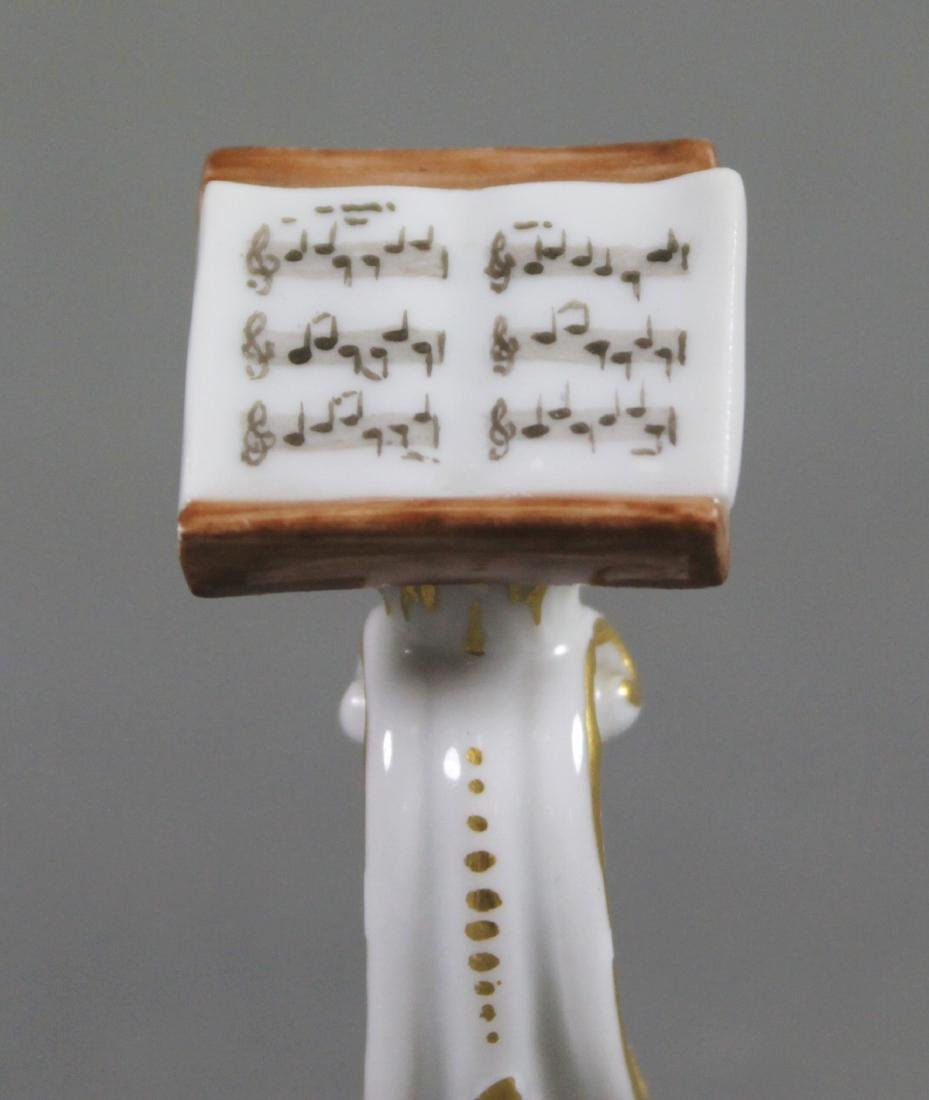 19TH C. MEISSEN MONKEY BAND CONDUCTOR W/ STAND - 8