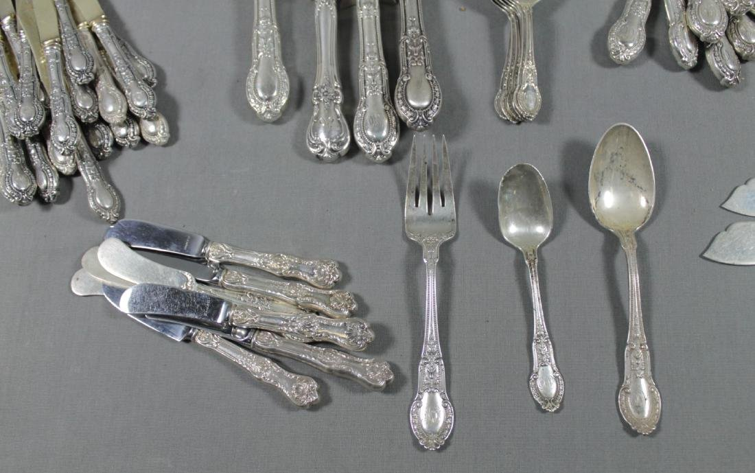 124 PC. SET OF MISC STERLING SILVER FLATWARE - 4