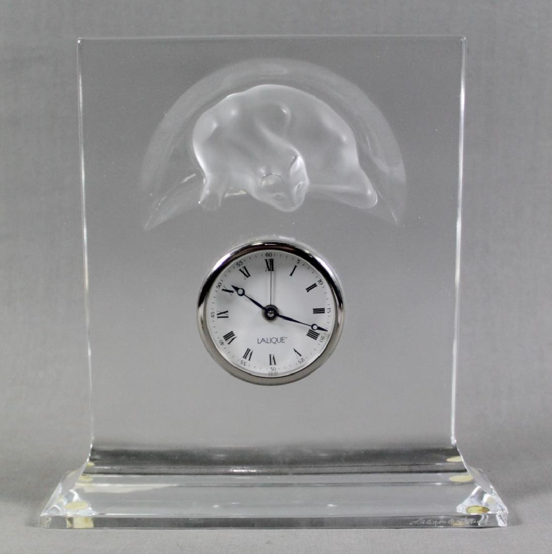 LALIQUE TABLE CLOCK