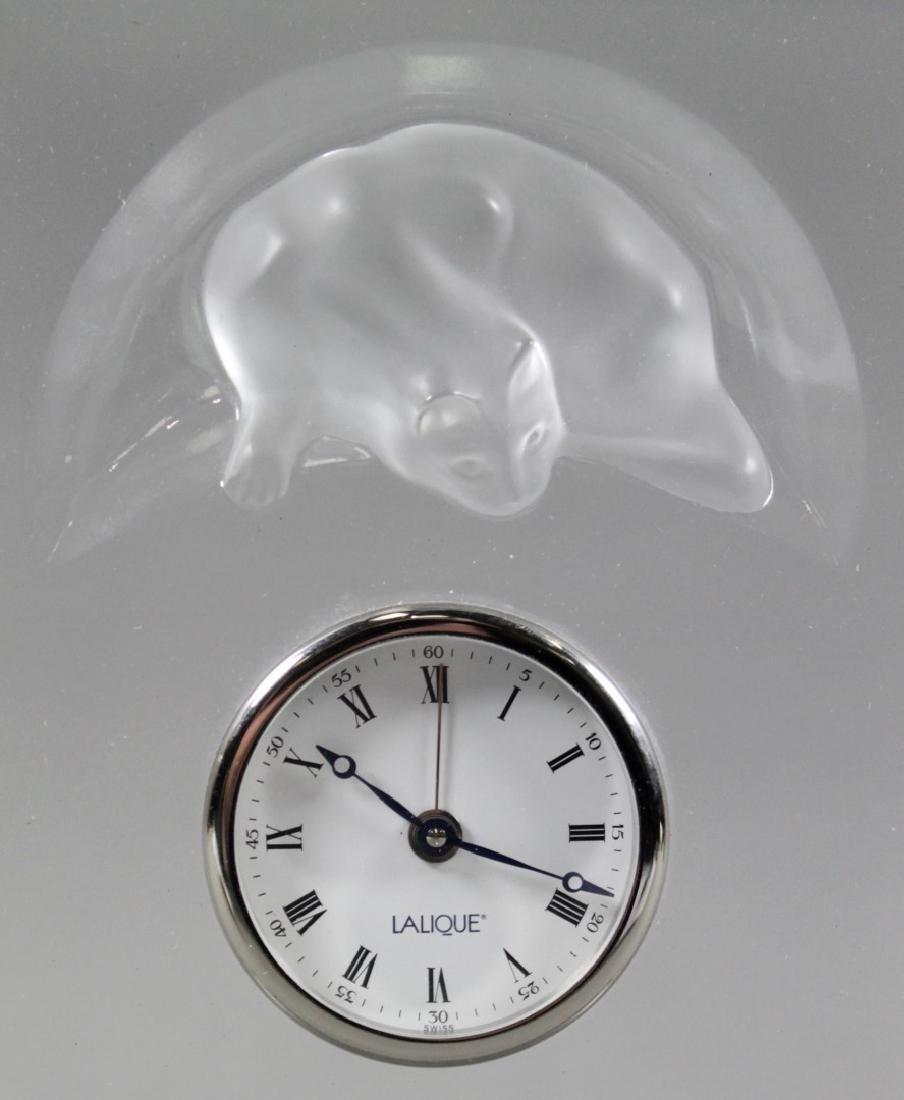 LALIQUE TABLE CLOCK - 2