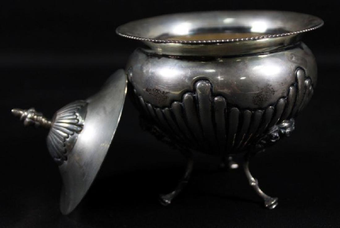 GOERGE NATHAN SILVER BOWL WITH COVER - 2