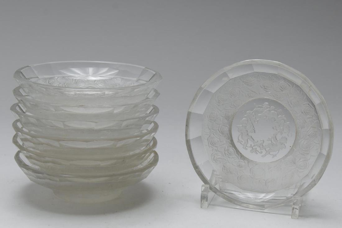 Etched Frosted Crystal & Glass, Group of 10 Pieces - 2